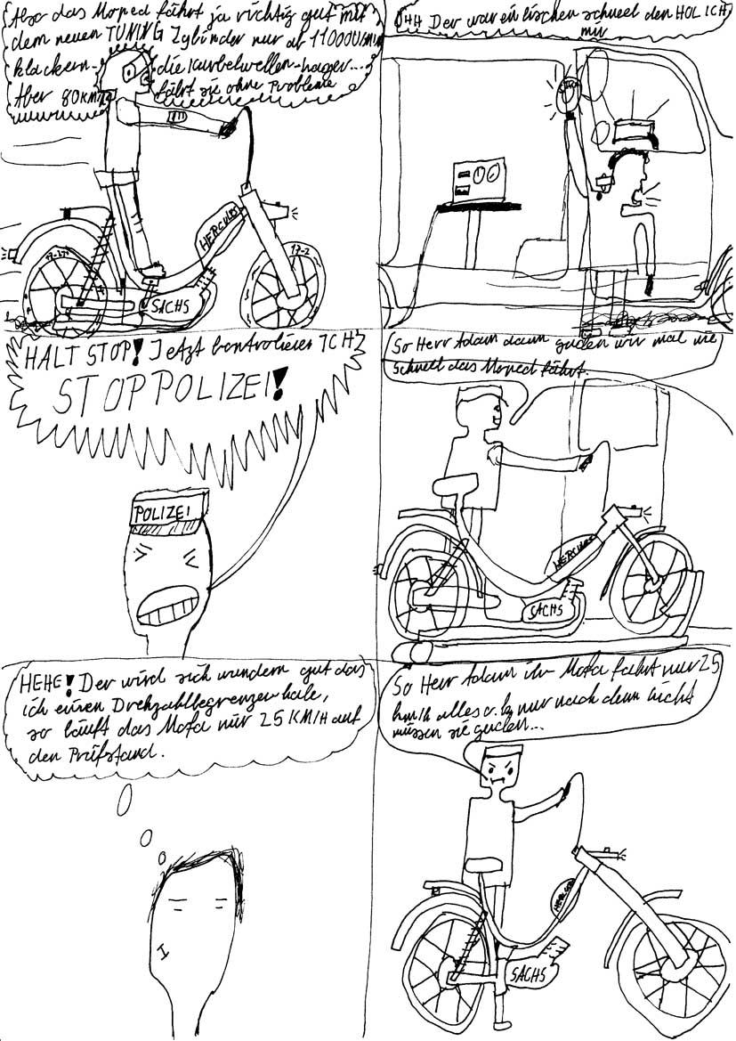 Das frisierte Moped - von Felix