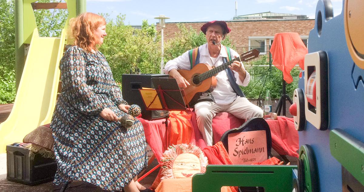 Hans Spielmann musizierte für Hilfe für kranke Kinder