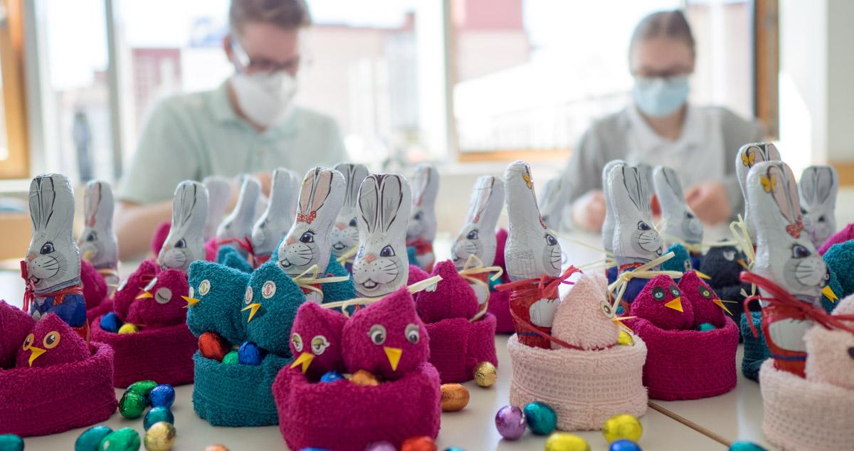 Osternester für die Patienten der Kinderklinik