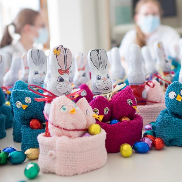 Ostergeschenke für die Kinderklinik